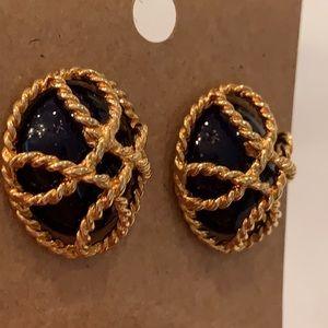 💐5/25 Avon vintage gold tone 1980s earrings